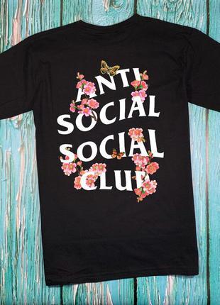 Футболка a.s.s.c. anti social social club • sakura black футбо...