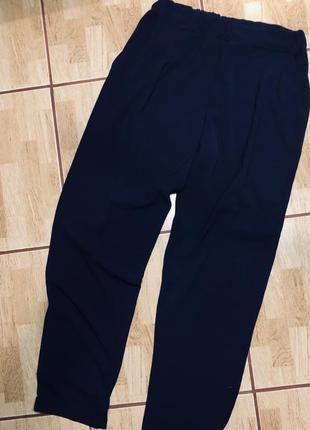 Темно-синие брюки zara