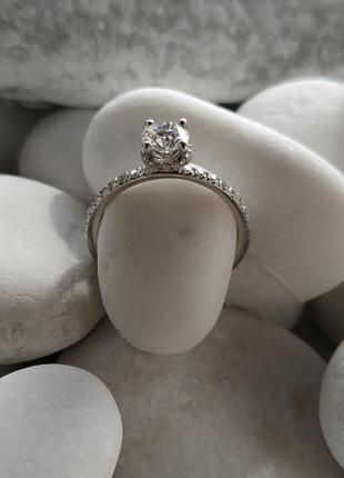 Кольцо с бриллиантом 0,52 карата сертификат GIA