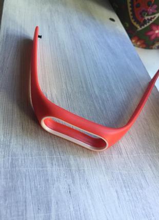 Ремешок фитнес-браслет xiaomi mi band 2 красный с белым