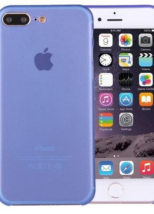 Чехол айфон матовый синий