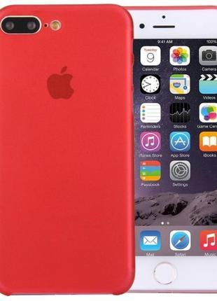 Чехол айфон ультратонкий матовый красный