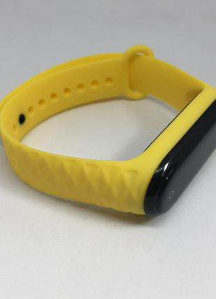 Ремешок для mi band 3 mi band 4 рифленый желтый