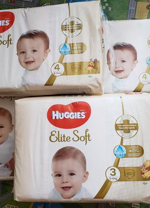 Huggies Elite soft розмір 3, розмір 4