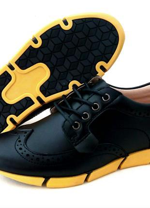 Школьные туфли броги ТМ B&G 32, 33, 34, 35, 36, 37 размеры