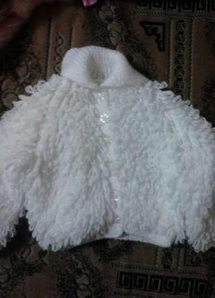Кофта детская теплая для девочки