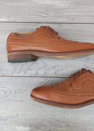 Topman мужские туфли броги натуральная кожа