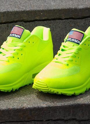 Kроссовки Nike Air Max : р. 37-й : Салатовые Найк Айр Макс.