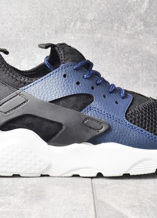 Kроссовки Nike Air Huarache Ultra : р. 37-й : Чёрно-синие Найк...