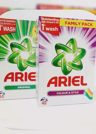 Пральний порошок Ariel 2600g 40 пранів