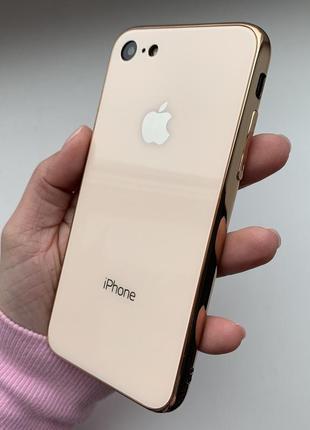 Скляний чохол glass case gold для iphone