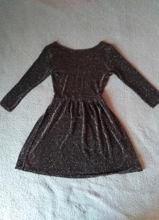 Платье чёрное с люрексовой нитью