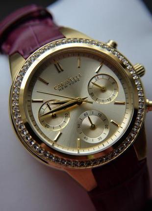 Цена дня!женские часы хронограф caravelle by bulova с кристаллами