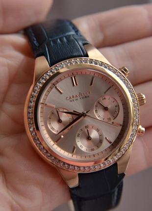 Цена дня! женские часы хронограф caravelle by bulova с кристал...
