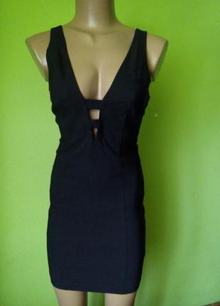 Стрейчевое платье для вечеринки с вырезами