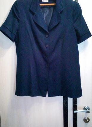 Пиджак плюс сайз темно синий