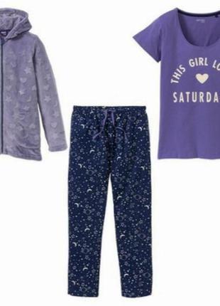 Теплый костюм для дома пижама с капюшоном
