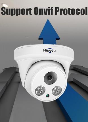 IP камера Hiseeu HC615-p видеонаблюдения 5mp H.265 POE Акция