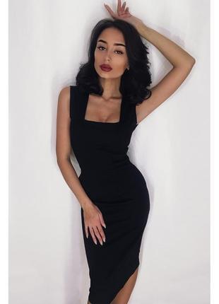 Черное платье футляр карандаш качественное плотное