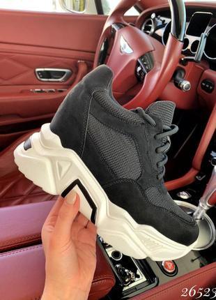 ❤ женские черные кроссовки сникерсы  ❤