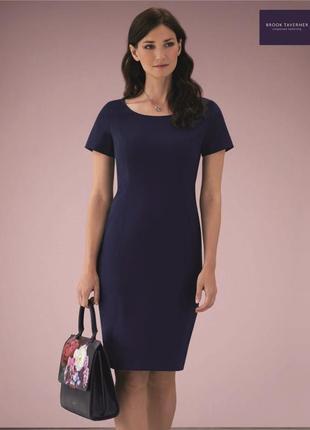 Темно синее платье миди футляр карандаш шерсть фирменное ориги...