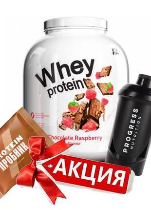 Протеин Fitness Authority Whey Protein 2270g + в подарок Шейкер