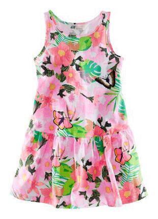 Платье сарафан котон девочке 5 - 6 лет h&m