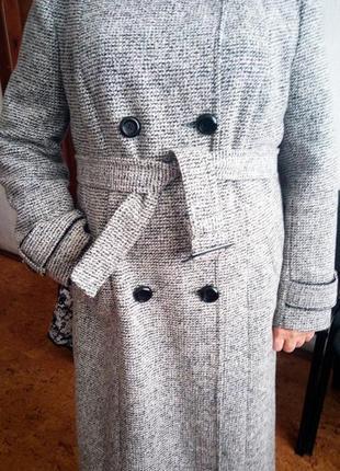 Плюс сайз пальто прямого покроя чехол приталенное на поясе ниж...