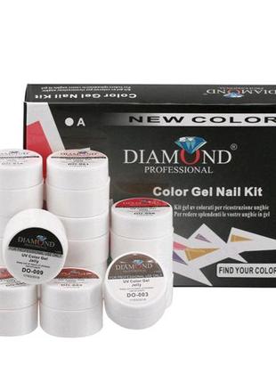 Набор цветных гель-красок 12 шт, 7 гр