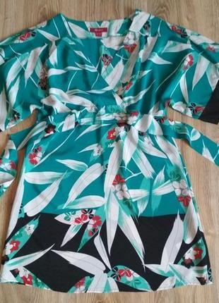 Шелковая блуза туника фасона кимоно