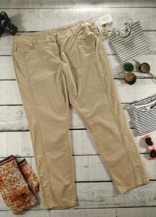 Джинсы брюки бежевые 56 размер  C&A