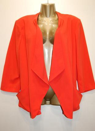Яркий стильный женский пиджак, большой размер