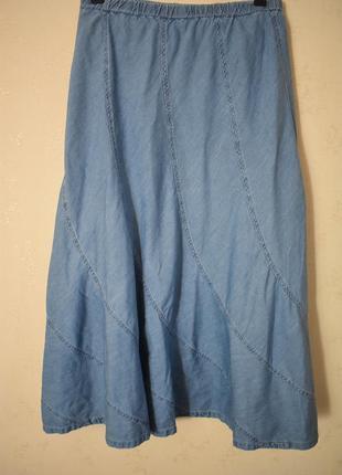 Легкая джинсовая юбка большого размера