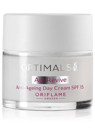 Антивозрастной дневной, ночной крем для лица spf 15 optimals
