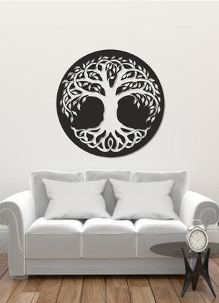 Деревянная картина лофт,панно Дерево жизни,настенный декор