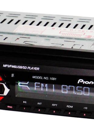 Автомагнитола 1091 съемная панель USB AUX