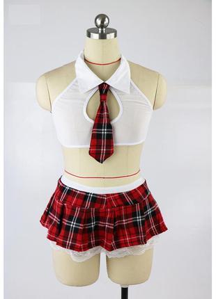 Эротический костюм школьница сексуальное белье эротическое бел...