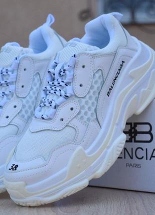 Крутые кроссовки 💪 balenciaga triple s low white 💪