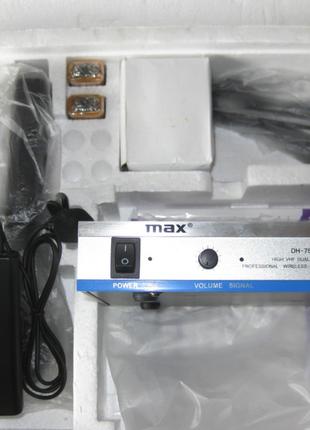Беспроводной микрофон MAX DH-755 ( 2 петлички).