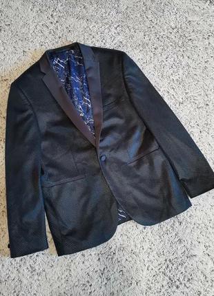 Пиджак синий нарядный burton, на одну пуговицу.