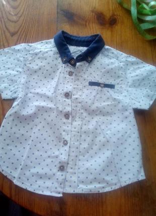 Рубашка с коротким рукавом (тенниска) на мальчика 3-5 лет