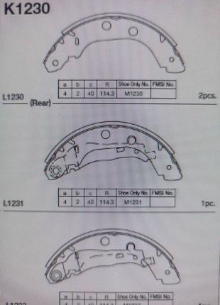 Тормозные колодки зад. RENAULT KANGOO 97-, NISSAN PRIMERA 96-02