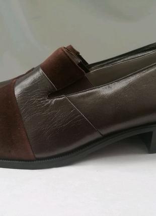 Smarts by c&k Германия кожаные туфли р. 41,5 ст. 27 см шир. 8,5 с