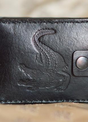 Мужской кошелек ручная работа натуральная кожа