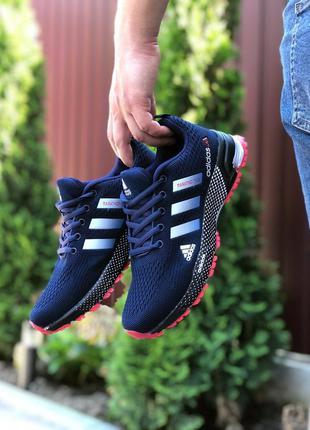 Adidas marathon dark blue, кроссовки мужские адидас