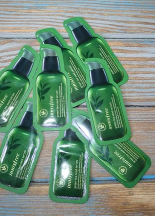 Сыворотка для лица innisfree green tea seed serum, 1 ml.