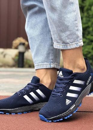 Жіночі кросівки адідас, adidas marathon dark blue