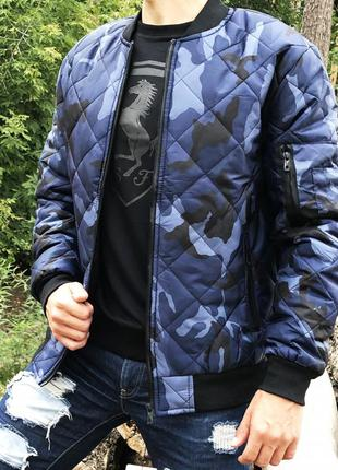 Бомбер urban blue camouflage