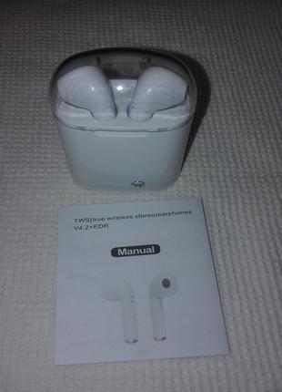 Беспроводные наушники в Кейсе i7 TWS Bluetooth Гарнитура AirPods