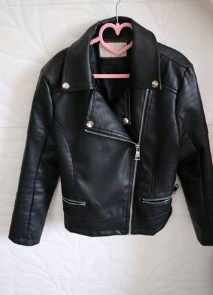 Куртка кожзам (140 см дівчинка)